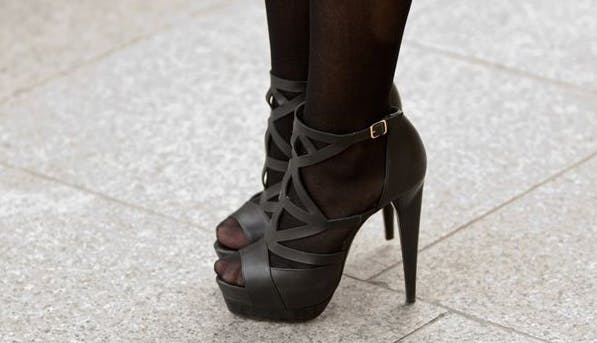 Black Stockings With Open Toed Shoes photo 20