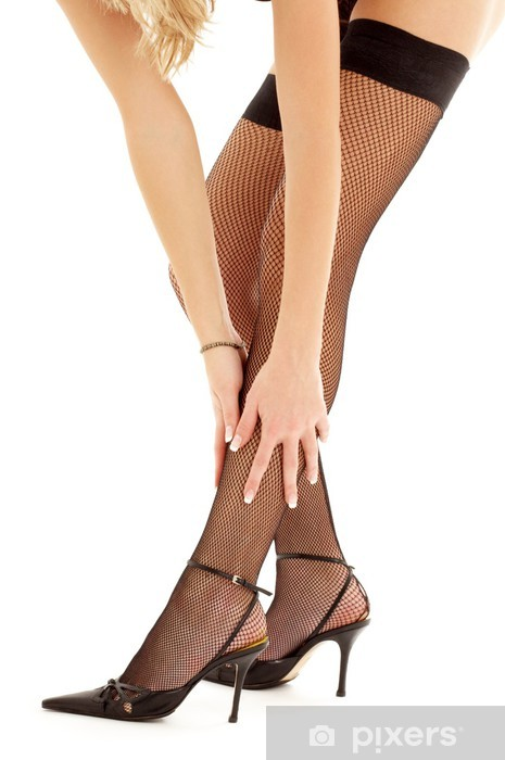 Black Stockings With Open Toed Shoes photo 10